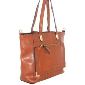 Structured Tan Handbag