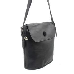 Shoulder Bag with Button
