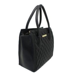 Black Structured Handbag